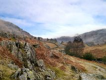 Looking down rugged valley area, Lake District Stock Image
