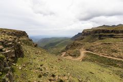 Looking down on Sani Pass Royalty Free Stock Photography