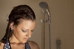 Looking down shower Royalty Free Stock Photo