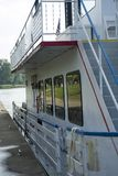 Sternwheel boat side view royalty free stock photo