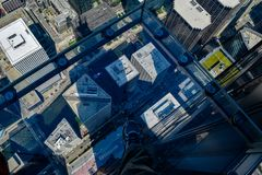 Looking down from the Skydeck royalty free stock image