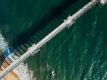 Looking down on a Southern California pier Stock Photos