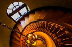 Looking down a spiral staircase in the Handley Library, Winchest Stock Photos