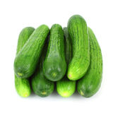 Looking Down Stack Small Seedless Cucumbers Royalty Free Stock Photos