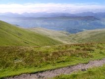 Looking down Stannah Gill to Thirlmere, Lake District Stock Photography