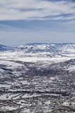Looking down on Steamboat Springs Royalty Free Stock Image