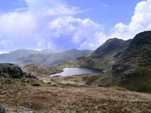Looking down on Stickle Tarn, Lake District Stock Photos
