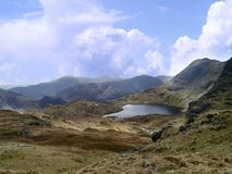 Looking down on Stickle Tarn, Lake District Royalty Free Stock Photography