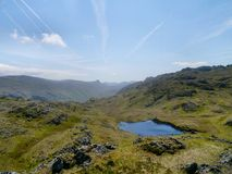 Looking down on Tarn at Leaves, Lake District Royalty Free Stock Images