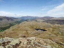 Looking down on Tarn at Leaves, Lake District Royalty Free Stock Photo