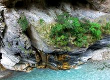 Looking Down Taroko Gorge Royalty Free Stock Images