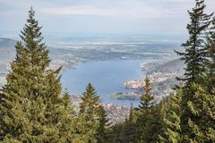 Looking down at the Tegernsee Royalty Free Stock Image