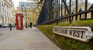 Looking Down Temple Row West Birmingham Royalty Free Stock Photography