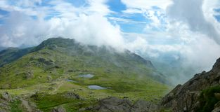 Looking down on Three Tarns, Lake District Royalty Free Stock Photo