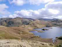 Looking down to Angle Tarn, Lake District Stock Photography