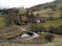 Looking down to the bridge to Martindale Royalty Free Stock Images