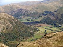 Looking down to Brothers Water and Hartsop Royalty Free Stock Photos