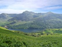 Looking down to Buttermere, Lake District Royalty Free Stock Photography