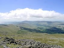 Looking down to the Duddon valley, Lake District Stock Image
