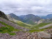 Looking down to Ennerdale, Lake District Royalty Free Stock Photo