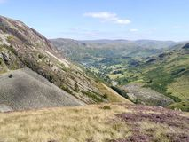 Looking down to Glenridding valley, Lake District Royalty Free Stock Photo