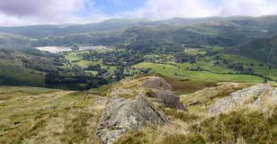 Looking down to Grasmere, Lake District Stock Image