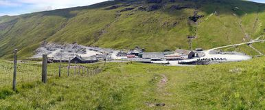 Looking down to Honister Slate Mine, Lake District Stock Photo