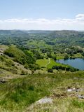Looking down to Loughrigg area, lake district Stock Photography