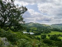 Looking down to Loughrigg tarn Stock Photos
