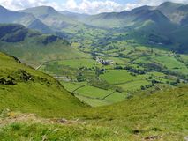 Looking down to Newlands valley from Catbells, Lake District Stock Photography
