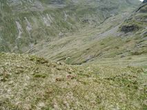 Looking down to Ruthwaite Lodge in the Grisedale valley Royalty Free Stock Images