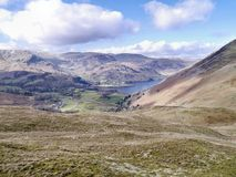 Looking down to Ullswater, early spring Stock Photography