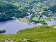 Looking down to Ullswater & Glenridding, Lake District Stock Photos