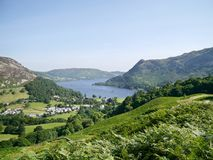 Looking down to Ullswater, Lake District Royalty Free Stock Image