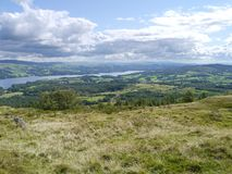 Looking down to Windermere, Lake District Royalty Free Stock Photos