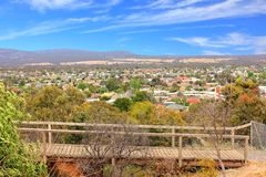 Looking down on tourist township Royalty Free Stock Photo