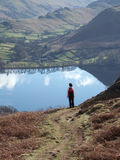 Looking down on Ullswater Stock Photo