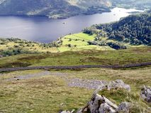 Looking down on Ullswater Stock Image