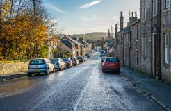 Looking Down into the Village of Lochwinnoch Royalty Free Stock Images