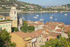 Looking down on Villefranche sur Mer, French Riviera, France Stock Photo