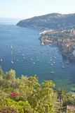 Looking down on Villefranche sur Mer, French Riviera, France Stock Photography