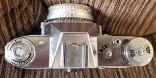 Vintage Camera From the Top Down royalty free stock photo