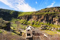 Ruins of a hydropower plant at White River State Park Royalty Free Stock Photo