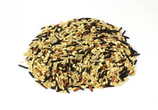 Looking Down Wild White Rice Mix Stock Photos