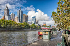 Looking down the Yatta River from Southbank in Melbourne Royalty Free Stock Photos