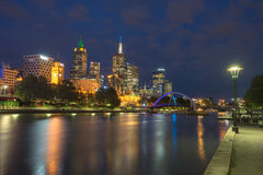 Looking down the Yatta River from Southbank in Melbourne Stock Images