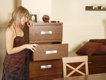 Looking into drawers Royalty Free Stock Image