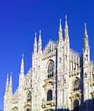 looking Duomo di Milano meaning Milan Cathedral in Italy, with b Royalty Free Stock Images