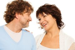 Looking in each others eyes Royalty Free Stock Image