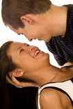 Looking in eachothers eyes Stock Images